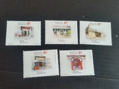 Macao 1995 Sg 894-898 Temples (3Rd Series) Mnh (M)