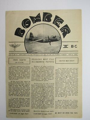 Third Bomber Command News Letter WW2 1943 B-26 North Africa Original