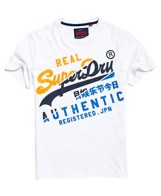 New Mens Superdry Vintage Authentic T-Shirt Optic