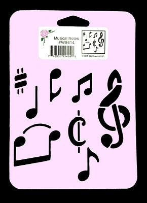 MUSICAL NOTES STENCIL MUSIC TEMPLATE PATTERN CRAFT PAINT ART NEW by STENSOURCE