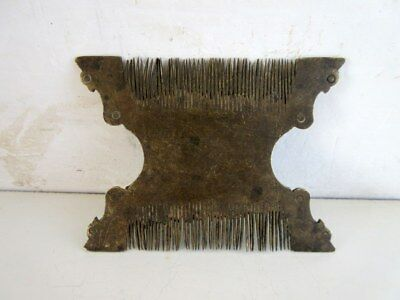 Antique Old Rare Indian Comb Hand Crafted Brass Indian Tribal Unique Lady Comb