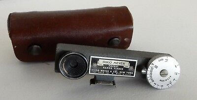 "Vintage ""Hugo  MEYER ~ Pocket  RANGE  FINDER""!  Original...  With Leather Case!"