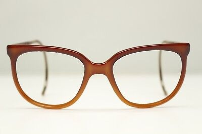 VTG Bausch Lomb Ray Ban Cats Eye Sunglasses Eyeglasses FRAMES ONLY France Brown
