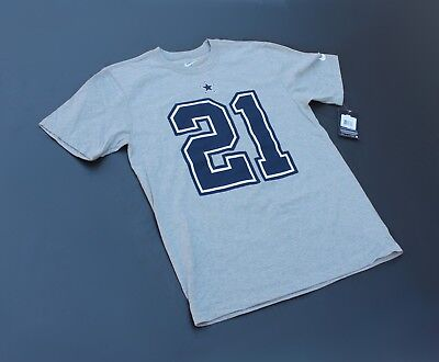 c247dc3f2 EZEKIEL ELLIOTT #21 Dallas Cowboys Jersey T Shirt Grey (NWT ...
