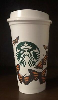 1 Starbucks Monarch Butterflies Reusable Recyclable Grande Coffee Cup