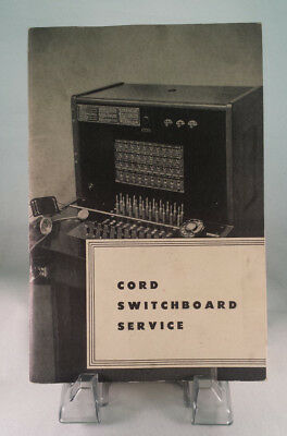 Vintage New York Telephone Co.  Cord Switchboard  Service Booklet/manual