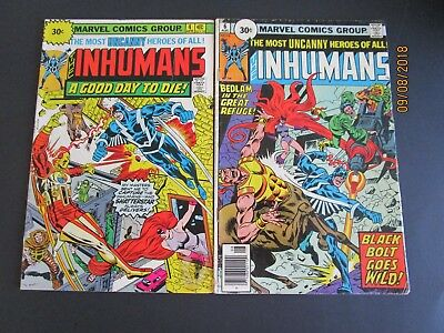 The Inhumans #4, 30 Cent Price Variant & #6 30 CENT VARIANT SEE PHOTOS FOR GRADE