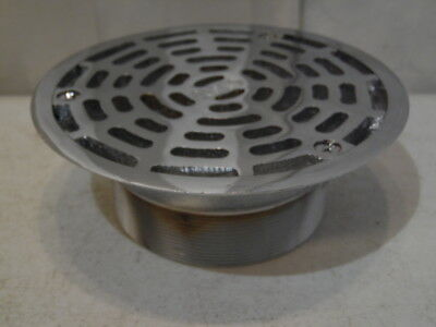 "Josam 6A-2-MFCP Chrome Plated Strainer Drain Cover 6"" Round Nikaloy W/ 4"" Hub"