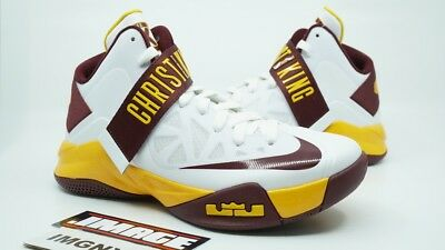 444581a38c1 NIKE LEBRON ZOOM Soldier Xi Used Size 12 Christ The King Bom 818178 ...