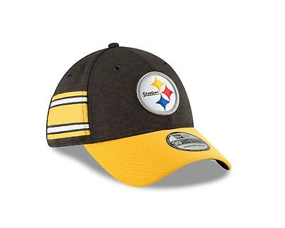 83b868a2219 Pittsburgh Steelers New Era 2018 NFL Sideline Home Official 39THIRTY Flex  Hat