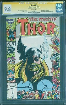 Thor 373 CGC SS 9.8 Walter Simonson Signed art Anniversary Frame Top 1 86 Cover