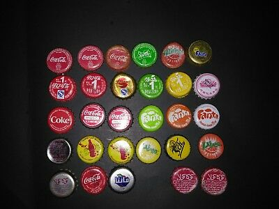 LOTS Coke bottle caps all  FROM Ethiopia China Thailand Morocco Tunisia JORDAN