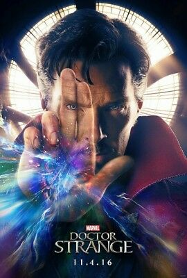 MARVEL Avengers MINT DOCTOR STRANGE Original 27x40 DS Movie Poster INFINITY WAR