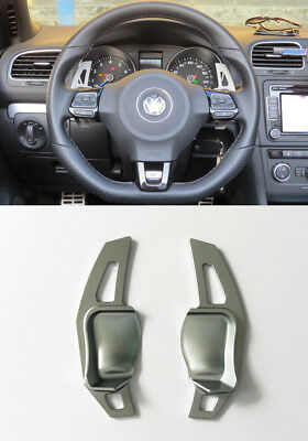 Pinalloy Gray Metal Steering Wheel Paddle Shifter Extension VW Golf 6 Scirocco