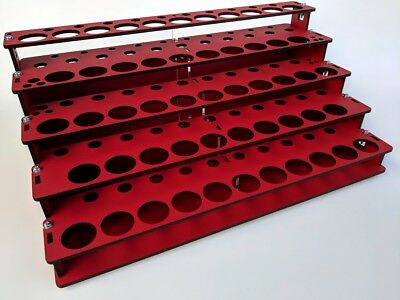 MDF Paint Rack Organizer for Hobby Paints, Many Paint Options, Red