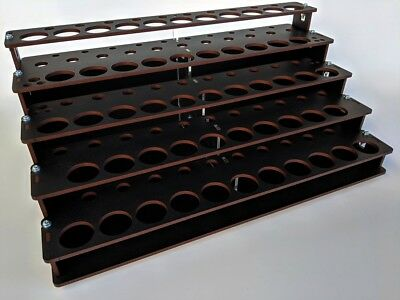 MDF Paint Rack Organizer for Hobby Paints, Many Paint Options, Satin Charcoal