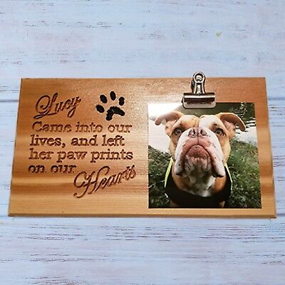 Personalized Custom Carved Wood Sign Rustic Name Plaque Wooden Pet Loss Memorial