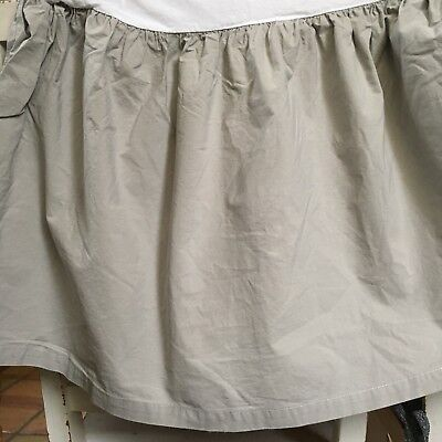 RH Baby (Restoration Hardware) Crib Skirt Gray/grey 100% Cotton