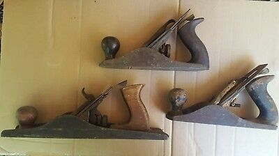 Bailey no. 4 wood plane lot Stanley clone + made in USA early 20th century tools