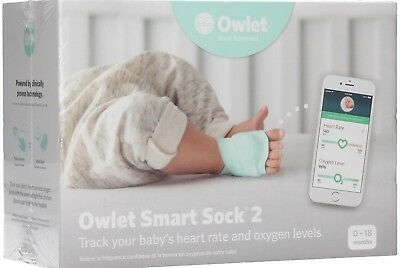 ✅*NEW SEALED* Owlet Smart Sock 2 Baby Heart Rate & Oxygen Level Health Monitor