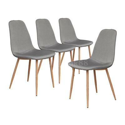 Astonishing 4Pcs Wood Dining Shell Chairs W Metal Legs Padded Office Forskolin Free Trial Chair Design Images Forskolin Free Trialorg