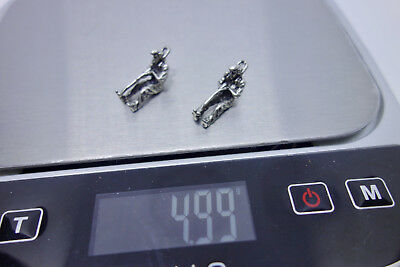 Lot Of 2 Vintage Sterling Silver Man Playing Golf Charm 3D