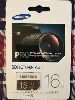 Samsung 16GB SDHC UHS-I SD Card Class 10 (MB-SG16D/AM) - NEW - FREE SHIPPING