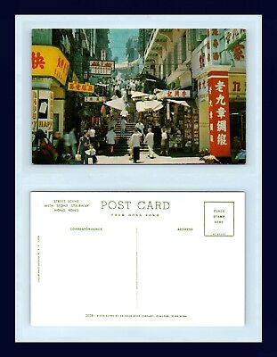 Hong Kong Stone Stairway Chrome Postcard Published By Swindon Book Circa 1955