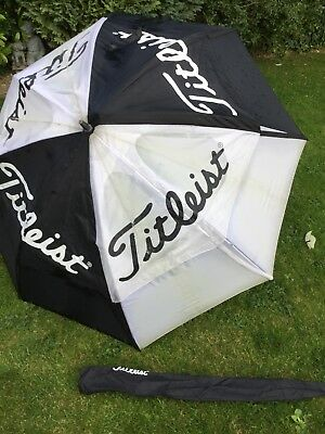 Titleist Large Double Canopy Golf Unbrella Ok Conditon Cover