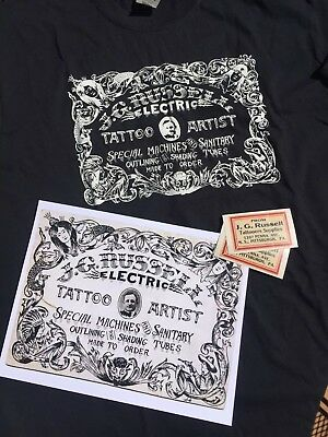 Vintage J G Russell Tattoo Artist Business Card Shirt And Print