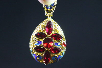 Exquisite Handwork Cloisonne Carve Butterfly Inlay Red Beads Fashion Pendant