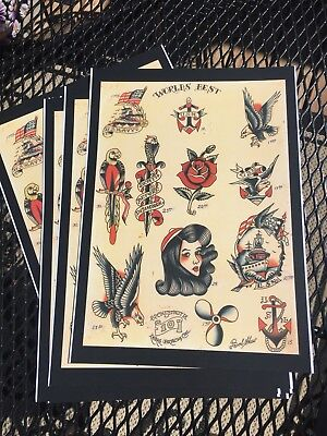 Vintage Bob Shaw Tattoo Flash Print