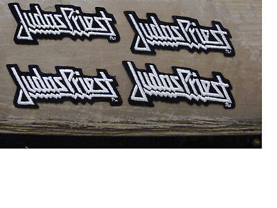 """Lot of 4 JUDAS PRIEST  EMBROIDERED 70'S METAL-IRON ON PATCH-licensed 4.5"""""""