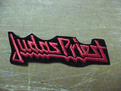 """Lot of 4 JUDAS PRIEST  EMBROIDERED 70'S METAL-IRON ON PATCH- 4""""-RED"""