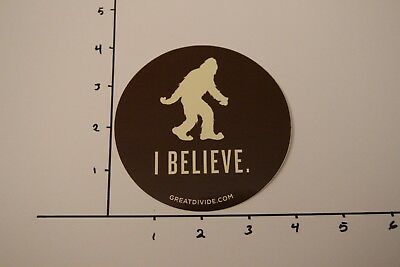 """Great Divide """"I Believe"""" Yeti Sticker...AWESOME!!!"""