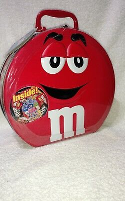 M&M's Red Large Round Tin With Handle