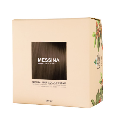 NEW MESSINA Natural Hair Color Cream 200ml Dark Brown Australia