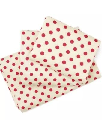Skip Hop Toddler 3 Piece unisex Sheet Set Zoo Owl red polka dot - discontinued!