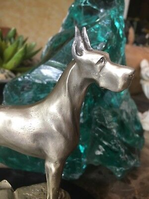 Pewter Great Dane Sculpture By V Perry Gardiner
