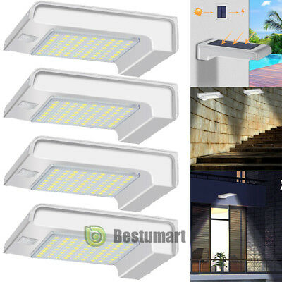 4Pack 72 LED Solar Motion Sensor Light Garden Yard Security Waterproof Wall Lamp