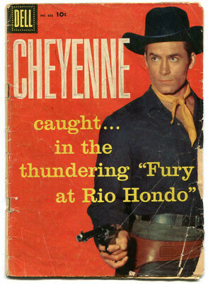 Cheyenne 803 FRGD 1.5 Dell Four Color 1957 Clint Walker Photo Cover