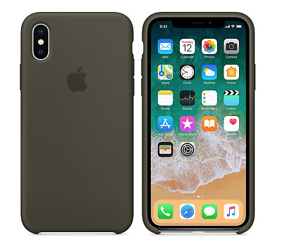 DARK OLIVE GENUINE ORIGINAL Apple Silicone Case NEW iPhone X RRP $39