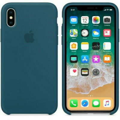 Cosmos Blue  GENUINE ORIGINAL Apple Silicone Case NEW iPhone X RRP $39