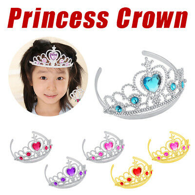 Halloween Girl Queen Princess Crown Crystal Tiara Cosplay Party Gifts Dress up