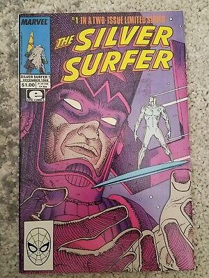 The Silver Surfer #1 (Dec 1988, Marvel) VF condition - Stan Lee/Moebius Galactus