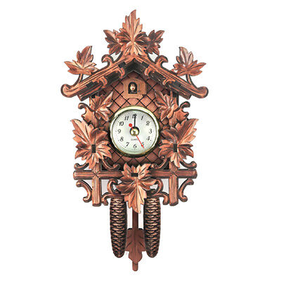 Vintage Decorative Clock Hanging Wood Cuckoo Clock Farmhouse Home Décor M