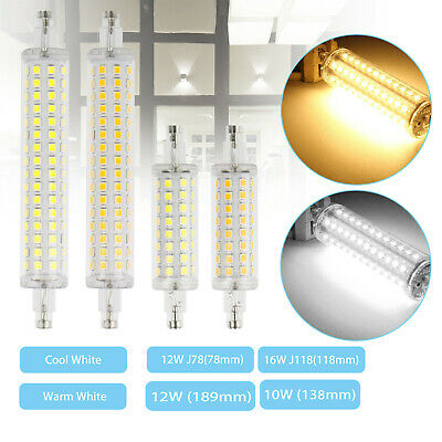 LED Flood Light Bulb R7S 78mm 118mm 12W 16W 2835 SMD Replacement Halogen Lamps