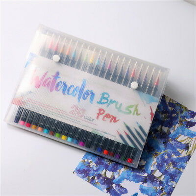 1Pcs Watercolor Brush Water Based Lettering Marker Calligraphy Pen