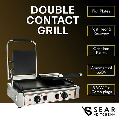 SEAR Commercial Sandwich Press Contact Grill Griddle Toaster Flat