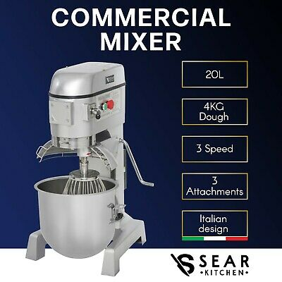 SEAR Commercial Planetary Mixer 20L - Electric Dough Food Kitchen